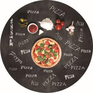 PLATEAU PIZZA ROND EN VERRE TREMPE DIAMETRE 35 cm